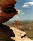 "Colorado Nature Photography - Colorado pictures: ""Swallowing a Camel.""   See the monster on the left swallowing the camel on the right?   Picture of Chimney Rock / Camel Rock on the Colorado/Wyoming border south of Laramie."